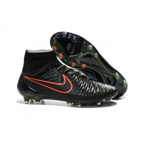 Nuovo 2015 Nike Magista Obra FG ACC Scarpe Calcio Nero Verde