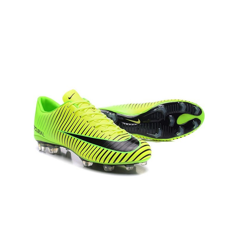 Nuovo Nero Scarpa Calcetto Nike Mercurial Vapor 11 FG Verde Nero Nuovo 812efc