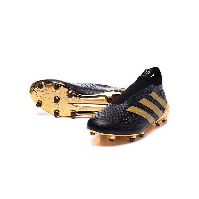 scarpe da calcio adidas senza lacci oro