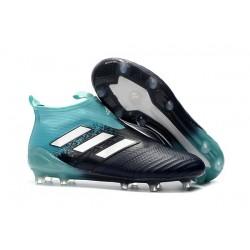 Scarpe adidas ACE 17+ PureControl FG Uomo - Nero Blu Bianco