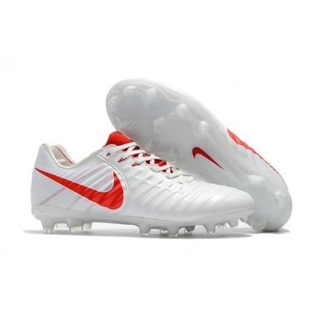Scarpe da Calcio Nike Tiempo Legend 7 FG - Bianco Rosso
