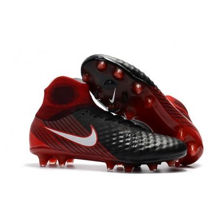 Scarpa da Calcio Nuovo Nike Magista Obra 2 FG ACC Nero Rosso
