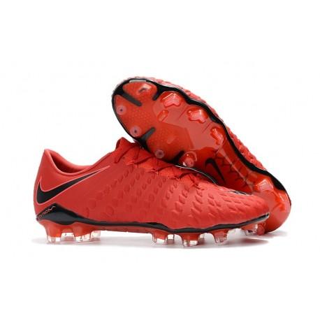 Nike Hypervenom Phantom 3 FG Scarpe da Calcetto - Rosso Nero