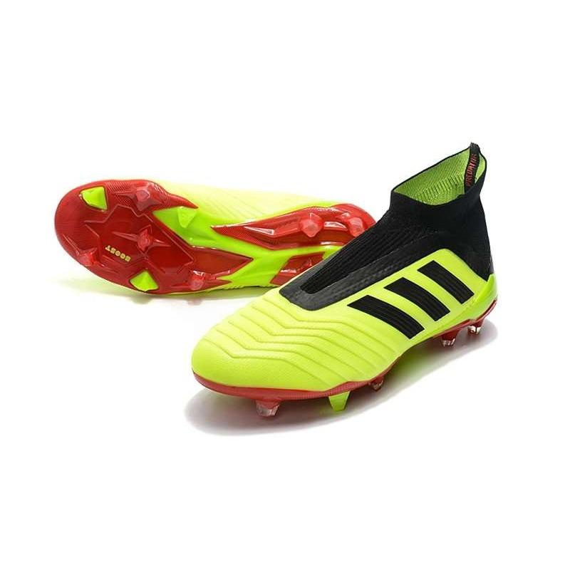 huge discount 3779d 78c6b Adidas Predator 18+ FG Nuovo Scarpe da Calcio - Giallo Rosso Nero Vedi a  schermo intero. Precedente. Successivo