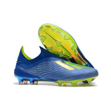 adidas X 18+ FG Scarpa da Calcio - Blu Verde