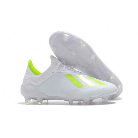 Scarpe da Calcio adidas X 18.1 FG - Bianca Giallo