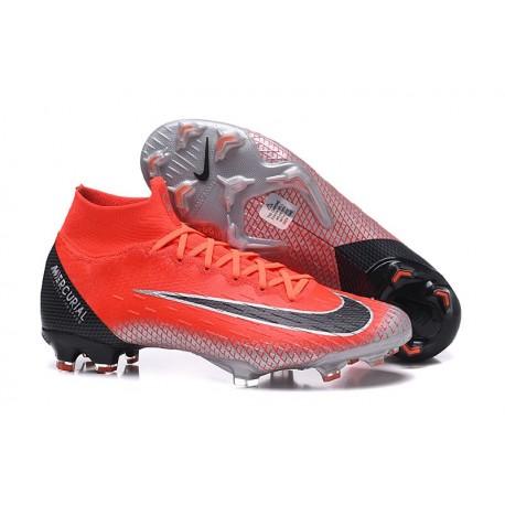 Nike Mercurial Superfly 6 Elite FG Scarpe da Calcio - Rosso Nero