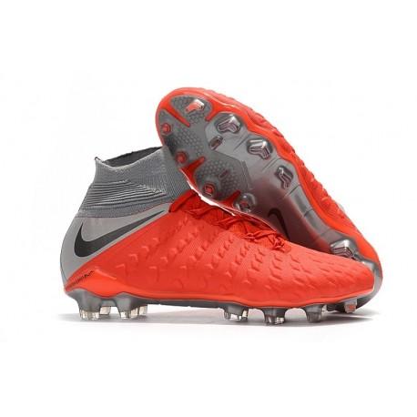 Nike Scarpa Hypervenom Phantom 3 DF FG ACC - Rosso Grigio
