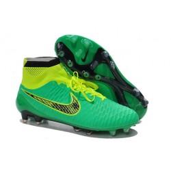 Scarpe da Calcio Nike Magista Obra FG Con Tacchetti Verde Nero