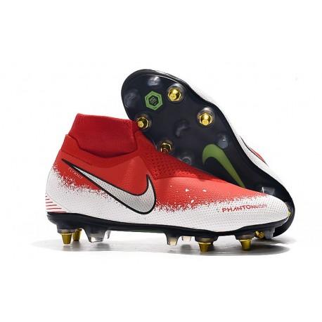 Scarpe Nike Phantom Vision Elite DF Anti-Clog SG-Pro Rosso Bianco