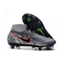 Scarpe Nike Phantom Vision Elite DF Anti-Clog SG-Pro Grigio Argento Nero