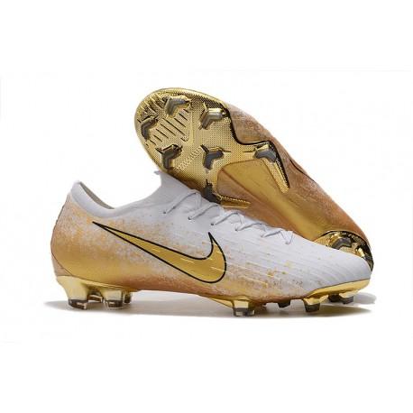 Scarpe da Calcio Nike Mercurial Vapor 12 Elite FG Bianco Oro
