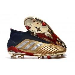 Adidas Scarpa da Calcio Nuovo Predator 19+ FG - Oro Argento Rosso