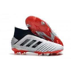 Adidas Scarpa da Calcio Nuovo Predator 19+ FG - Argento Nero Rosso