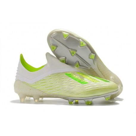 adidas X 18+ FG Scarpa da Calcio - Bianco Verde