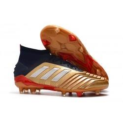 Scarpa Nuovo Adidas Predator 19.1 FG - Oro Rosso Argento