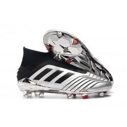 Adidas Scarpa da Calcio Nuovo Predator 19+ FG - Argento Nero