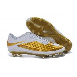 Nike Scarpe Calcio Uomo Hypervenom Phantom Fg Oro Bianco