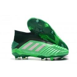Adidas Scarpa da Calcio Nuovo Predator 19+ FG - Verde Argento