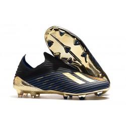 Scarpe da calcio adidas X 19+ FG per terreni duri Nero Blu Oro