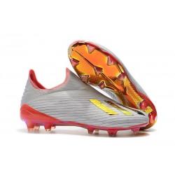 Scarpe da calcio adidas X 19+ FG per terreni duri Argento Rosso