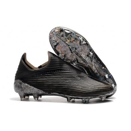 Scarpe da calcio adidas X 19+ FG per terreni duri Dark Script Nero