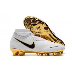 Scarpe Nuovo Nike Phantom Vision Elite DF FG Bianca Oro