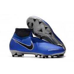 Scarpe Nuovo Nike Phantom Vision Elite DF FG - Blu Negro