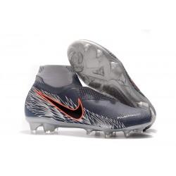 Nike Phantom VSN Elite DF FG Scarpa Uomo - Grigio Nero Rojo