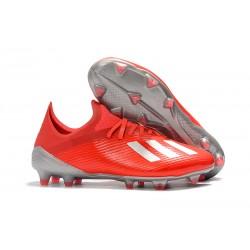 Scarpa da Calcio adidas X 19.1 FG Rosso Argento
