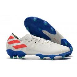 Scarpe Calcio Adidas Nemeziz 19.1 FG Bianco Blu Rosso