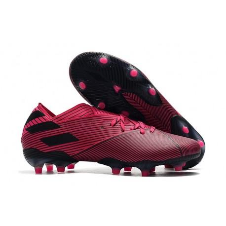 Scarpe Calcio Adidas Nemeziz 19.1 FG Rosa Nero