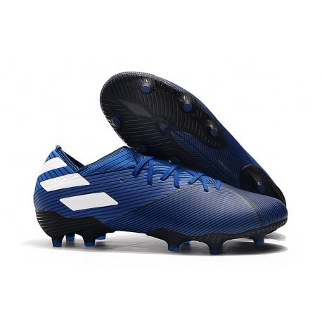Scarpe Calcio Adidas Nemeziz 19.1 FG Blu Bianco