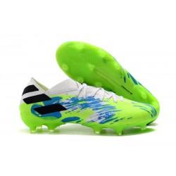 Scarpe Calcio Adidas Nemeziz 19.1 FG Bianco Verde Blu