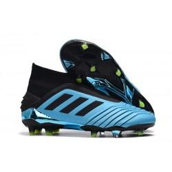 Scarpe Calcio Adidas Predator 19+ FG - Blu Nero