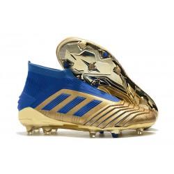 Adidas Predator 19+ FG Nuovo Scarpa Oro Blu