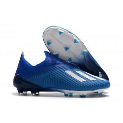 Scarpe da calcio adidas X 19+ FG per terreni duri Blu Bianco