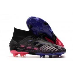 Adidas Predator 19+ FG Nuovo Scarpa Nero Rosa Blu