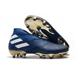 adidas Nemeziz 19+ FG Terreni Compatti Blu Bianco