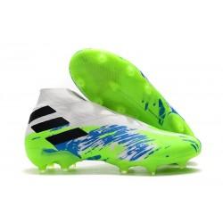 adidas Nemeziz 19+ FG Terreni Compatti Bianco Verde Blu