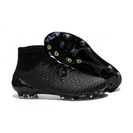 Nuovo 2015 Nike Magista Obra FG ACC Scarpe Calcio Tutte Nero 5b7793bf98b