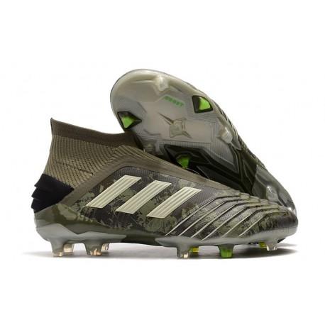 Adidas Predator 19+ FG Nuovo Scarpa Verde Legacy Sabbia Giallo Solar