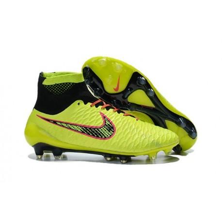 Nuovo 2015 Nike Magista Obra FG ACC Scarpe Calcio Verde Nero Arancio 8345c8a22ba