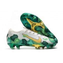 Scarpe Nuovo Nike Mercurial Vapor 13 Elite FG Mbappe Grigio Verde Oro