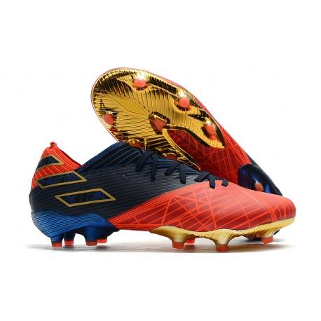 Scarpe Calcio Adidas Nemeziz 19.1 FG X Marvel Rosso Blu Nero