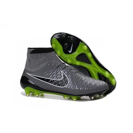 Nuovo 2015 Nike Magista Obra FG ACC Scarpe Calcio Grigio Nero d23deaf01e1