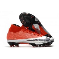 Nike Mercurial Superfly 7 Elite FG Scarpe - Rosso Argento Nero
