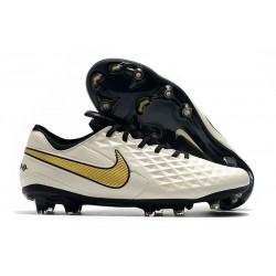 Nike Tiempo Legend VIII Elite FG Scarpa - Bianco Nero Oro