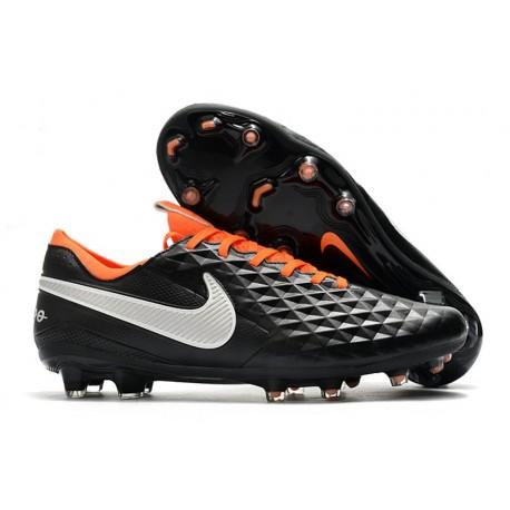 Nike Tiempo Legend VIII Elite FG Scarpa - Nero Bianco Arancione