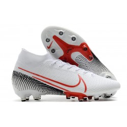 Scarpe Nike Mercurial Superfly VII Elite AG-Pro Bianco Rosso